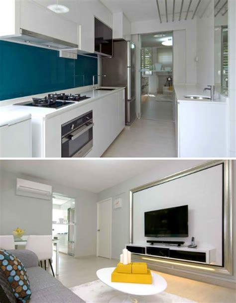 apartment kitchen renovation ideas singapore shoebox flat gets stunning modern renovation