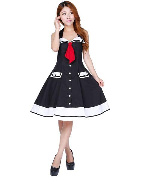 swing dress costume rk103 rockabilly sailor retro nautical costume dress pin