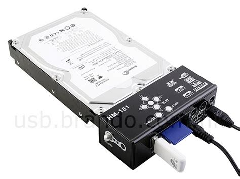 Harddisk Output drive station with hdmi output
