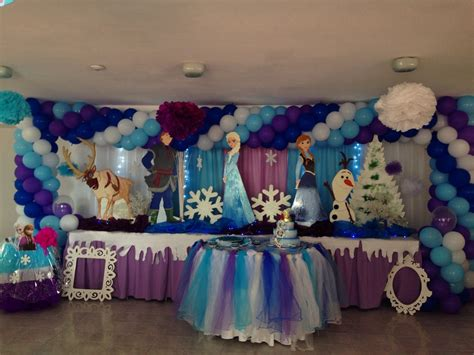 arreglos de mesa de globos de frozen pin de cumpleanos mesas fantasia arreglos y ornamentos con