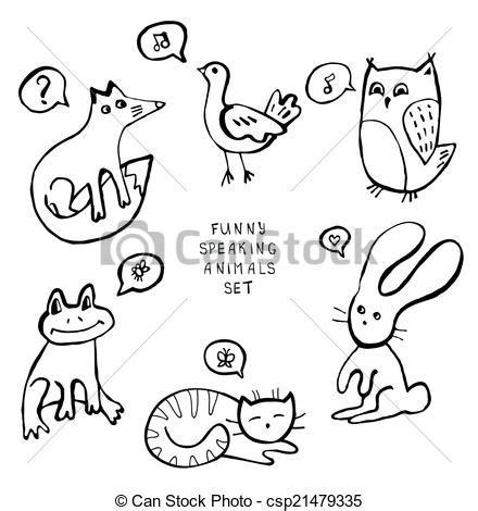 doodle animals vector free vectors of animal doodles csp21479335 search clip