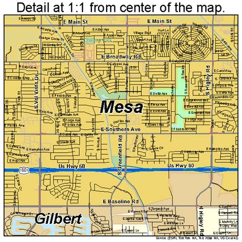 mesa arizona usa map mesa arizona map 0446000