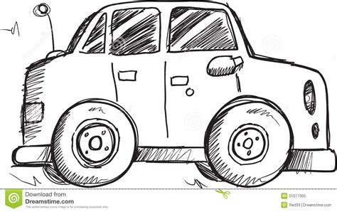 doodle car doodle car vector stock vector image of drawing vehicle