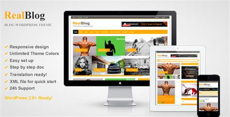 theme wordpress blog themeforest realblog responsive wordpress blog theme by