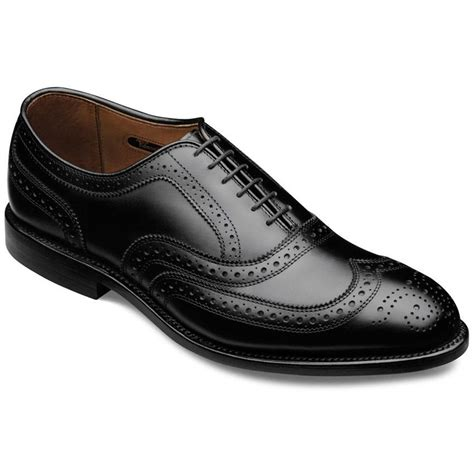 handmade wingtip brogue shoes black dress shoes for