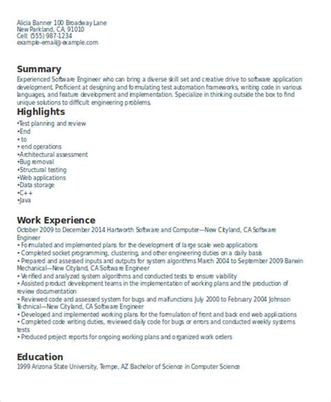 Experienced Resume by 16 Experienced Resume Format Templates Pdf Doc Free