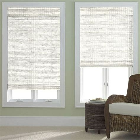 how to hang jcpenny roman shades jcp home bamboo woven wood roman shade jcpenney