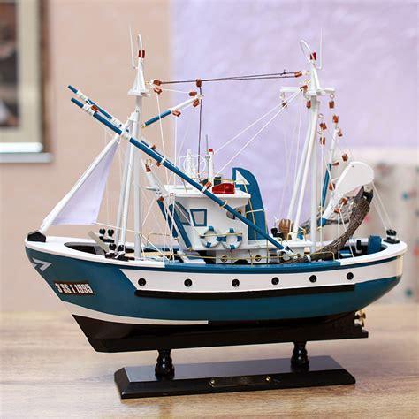 Handmade Ship Craft Wooden Sailing - aliexpress buy handmade fishing boat model wood