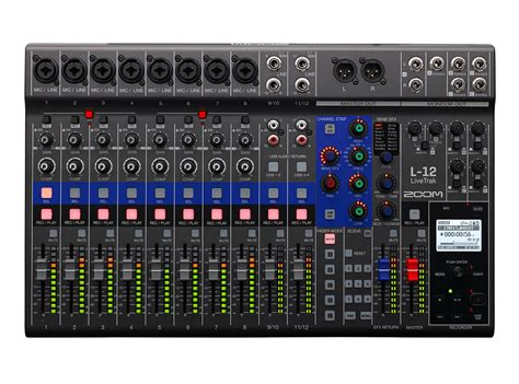zoom digital zoom l 12 livetrak digital mixer and multitrack recorder