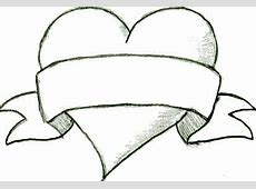 Heart Drawings - Best, Cool, Funny Easy Drawings Of Hearts With Ribbons