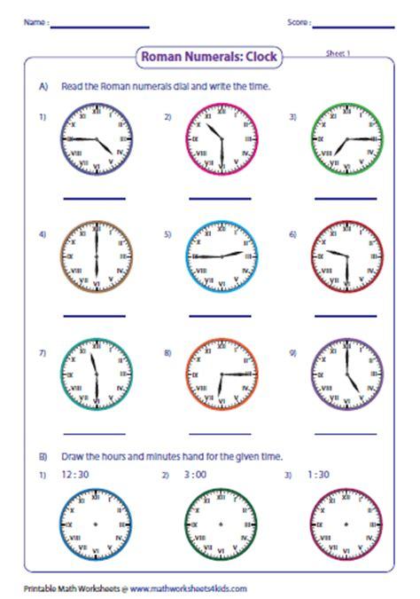 clock worksheets ks2 roman numerals worksheets