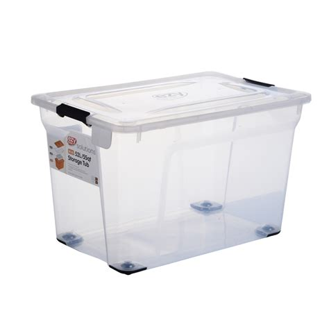 ezy storage solutions 52l storage tub bunnings warehouse