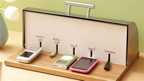 diy home charging station bread box charging station definitely diy