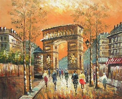 Home Of The Eifell Tower Arc De Triomph Paris Painting Canvaspainting4less