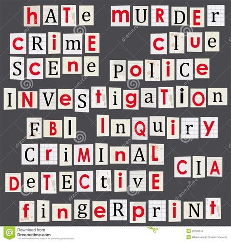 theme line anonymous crime and forensic science theme illustration stock