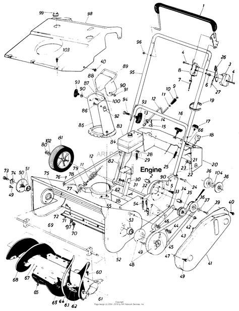 mtd yardman parts diagram mtd mtd snowflite 316 150 120 parts diagram for parts