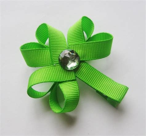 ribbon shamrock instructions 1655 best hair bows and ribbon sculptures images on
