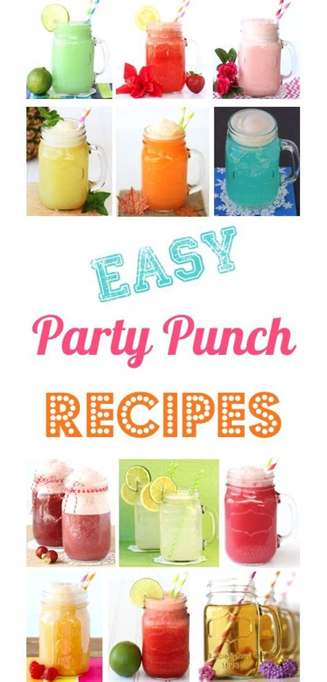 non alcoholic punch recipes for wedding showers best 25 easy punch recipes ideas on punch