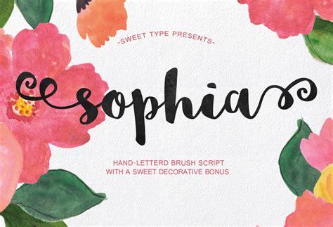 font kekinian sophia handlettered brush script free font download