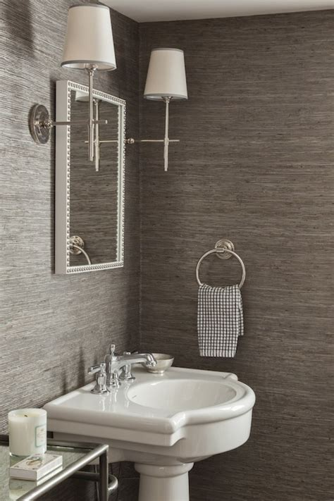 grasscloth wallpaper in bathroom inspirational powder room designsbrettvdesignblog