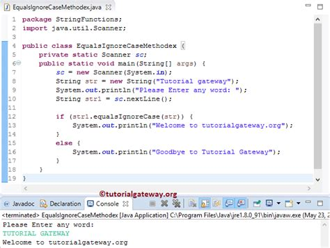 java string template java string equalsignorecase method