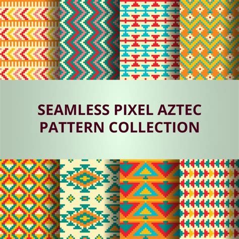 aztec pattern ai aztec fantastic pixel pattern vector free download