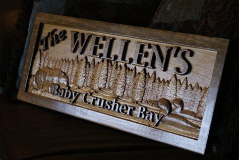 Wood Signs For Cabins by Personalized Cabin Sign Wood Plaque From Ssvwoodworks On Etsy