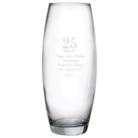 Wedding Anniversary Vase by Personalised 25th Wedding Anniversary Vase Find Me A Gift