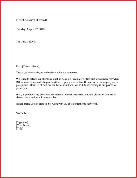 Thanks For Your Business Letter Template thank you for your business letter to client cover