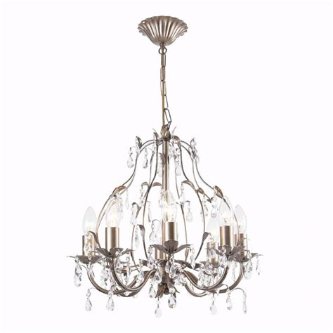 Brushed Gold Chandelier Litecraft 8 Light Brushed Gold Chandelier Ceiling Light Ebay