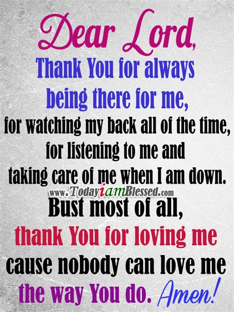 Being Me Loving You prayer lord thank you for loving me cause nobody can me the way you do amen http