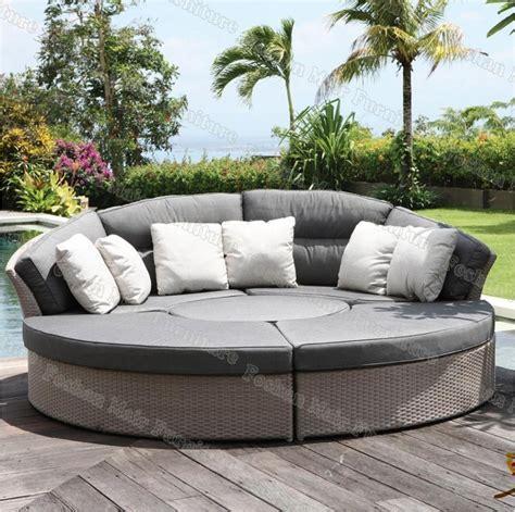 lit rond exterieur lit de jour confortable de rotin lit de sofa ext 233 rieur