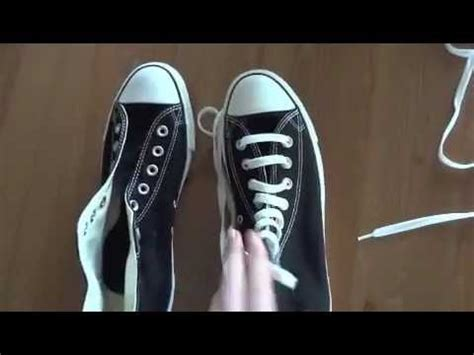 How To Bar Lace Converse High Tops Youtube
