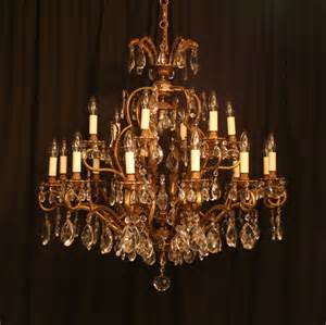 antique chandelier a large italian 19 light antique chandelier 244354