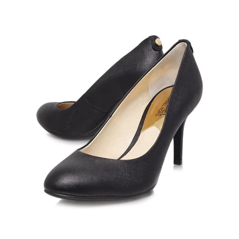 michael shoes michael kors mk flex high heel court shoes in black lyst