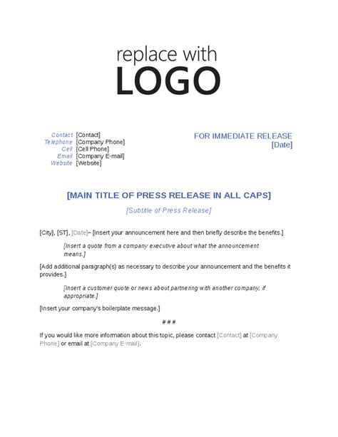 Press Release Template E Commercewordpress Press Release Template Word