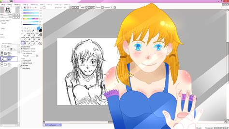 paint tool sai 2 monitors paint tool sai wallpaper by kyuubi overrated on deviantart