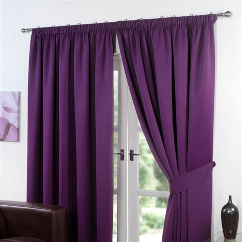 lined drapes thermal pencil pleat blackout pair curtains ready made