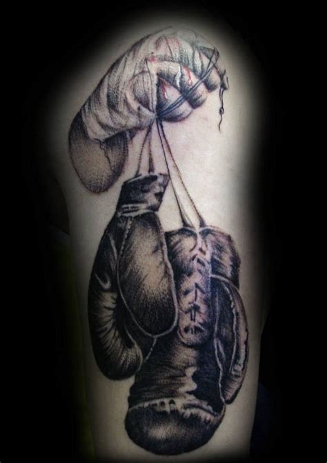 boxing glove tattoo by ray tutty tattoo studio flickr