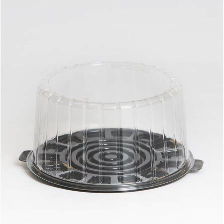 10 Inch Plastic Cake Container Dome Lid - inline plastics ez open clear layer 9 inch cake