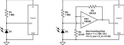 ir diode array arduino how to use sfh235 ir photodiode correctly electrical engineering stack exchange