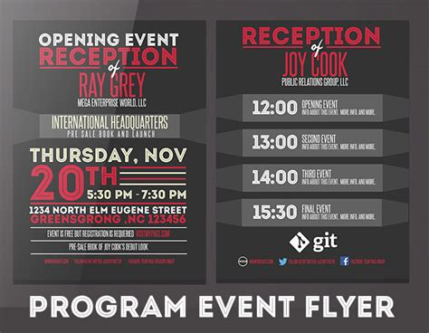 event flyer template event program template psd flyer brochure graphicfy