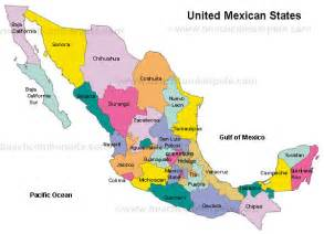 Map Of States Of Mexico by Mexico States Mexico Beachcomber Pete Travel Adventures