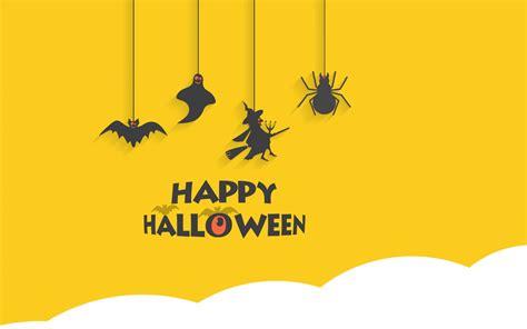 wallpaper happy halloween minimal yellow hd celebrations