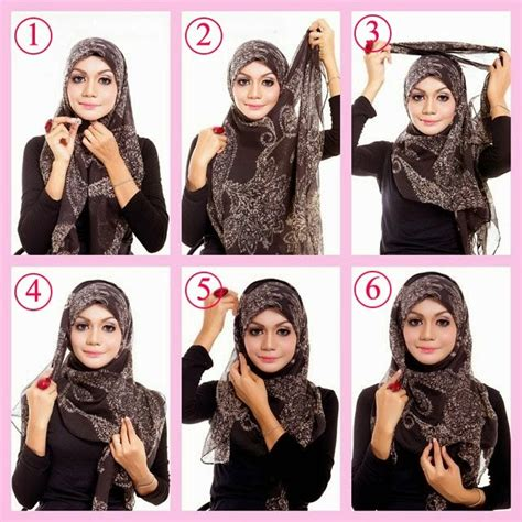 tutorial hijab wajah segitiga simple tutorial hijab segi empat 2015 hijabiworld