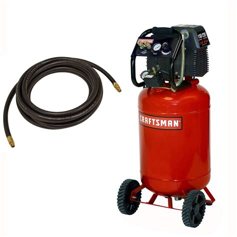 craftsman 20 gallon portable vertical air compressor with hose and 9pc accessory kit shop your