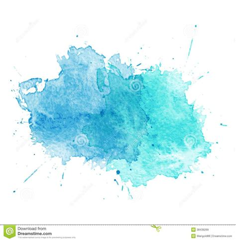 blue watercolor splatters vector royalty free stock images image 38439299