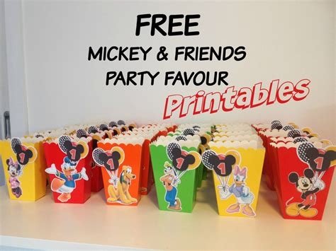 printable birthday favors how to make mickey mouse inspired party favour box with
