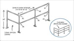 osha handrail design industrial handrail dimensions images