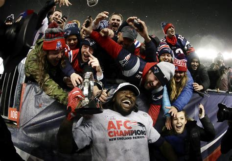 new england patriots fans they re back brady and patriots win afc chionship